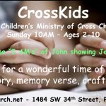 CrossKids Children's Church 10am!