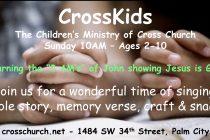 CrossKids Children's Church 10am!