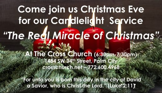 """Cross Church Worship! December 13th at 10am """"The Miracle of Christmas"""" (Phil 2:5-11)"""